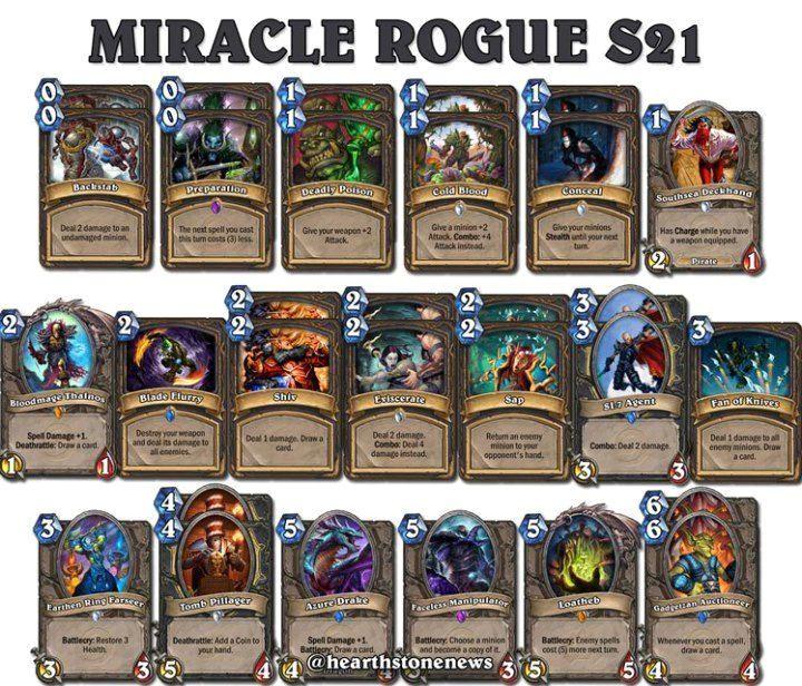 miracle rogue deck