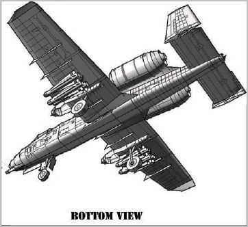 Aarons A-10 model bottom view