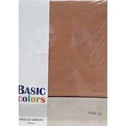 Basic Color juego de sabanas de verano basicas marron y tierra para camas de 135
