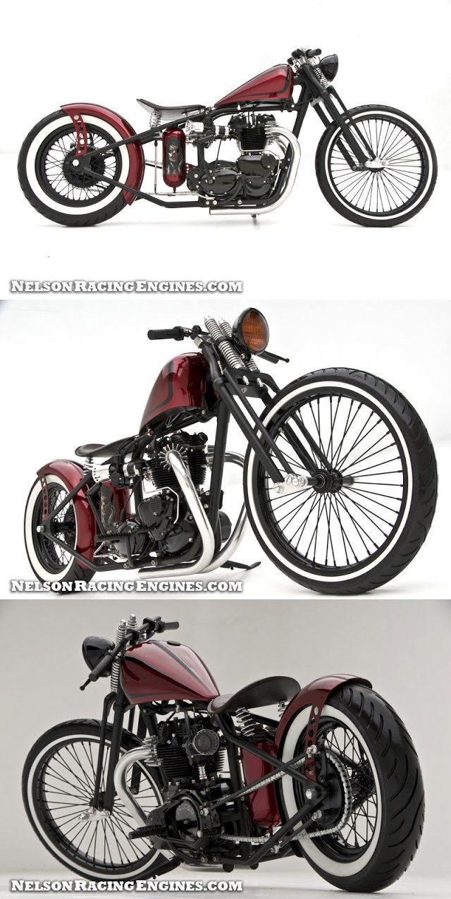 Bloody Marry Triumph Bobber  Wow this is so classy and retro.