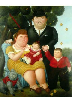 Una familia, de Fernando Botero  óleo sobre lienzo