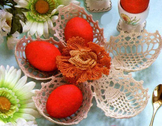 Очумелая домохозяйка: Пасхальная корзинка для яиц. Вяжем крючком