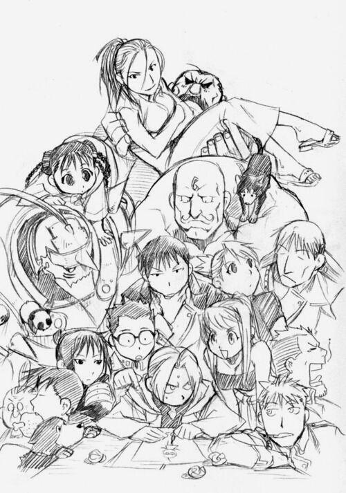 meowstang:  Fullmetal Alchemist characters by Hiromu Arakawa.