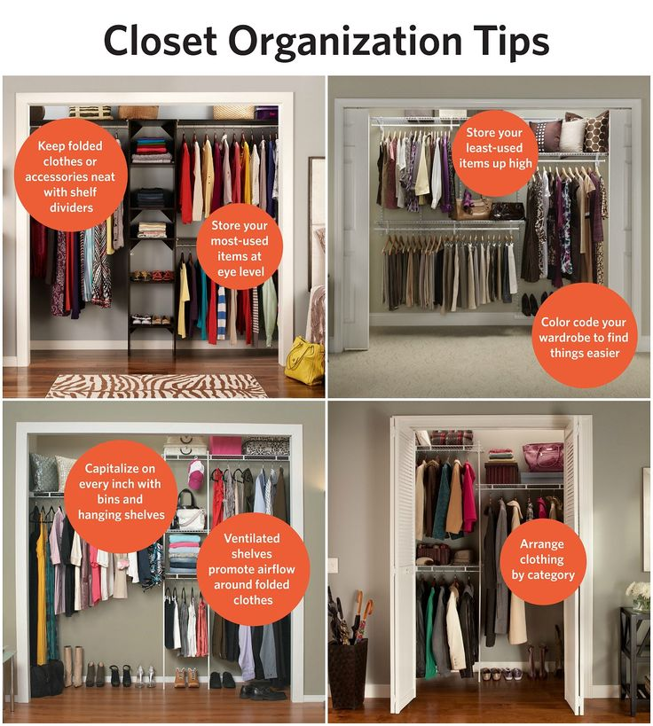 Cute Closet organization tips