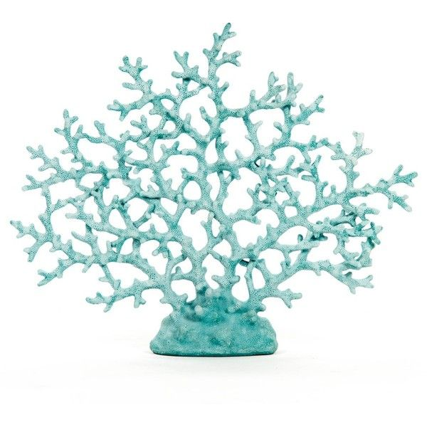 Blue Coral (100 CAD) ❤ liked on Polyvore featuring home, home decor, decor, fillers, backgrounds, beach, coral home accessories, blue home decor, blue home accessories and coral home decor
