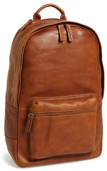 $328, Fossil Ledge Leather Backpack. Sold by Nordstrom. Click for more info: https://lookastic.com/men/shop_items/142987/redirect