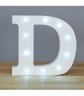 """Letra luminosa """"D"""""""