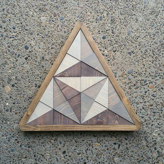 3d Wood Triangle Wall Art Mosaic Home Decor Modern Decoration Triangle Wall Geometric Wall Art Mosaic House