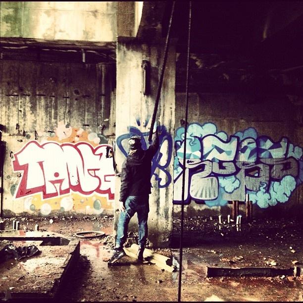 @kayadavide #rgbs #kaya #tang #graffiti #decay #abandonedfactory #tag #urbancode #portomarghera #demolition #factory #venezia #ve #marghera - @insta_monk- #webstagram