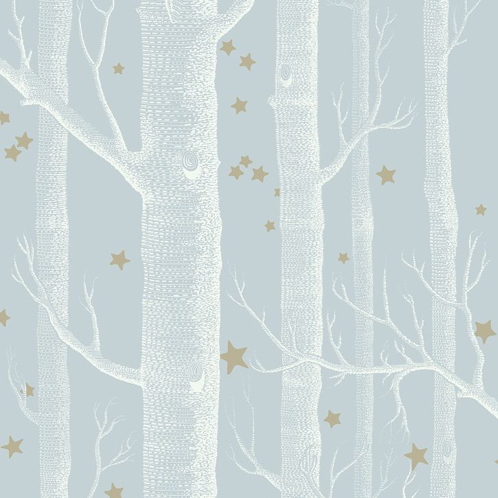 Cole and Son's Whimsical range wallpaper , woods and stars, powder blue,stunning range of modern and classic children's wallpapers online