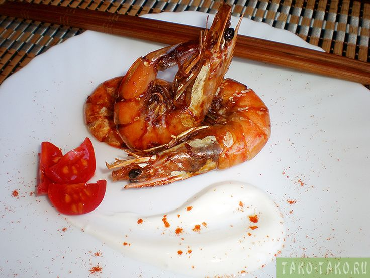 Жареные креветки фото готового блюда