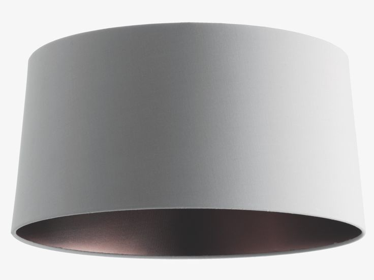 GRANDE GREYS Fabric Grey/bronze small tapered lampshade 38 x 19cm - HabitatUK