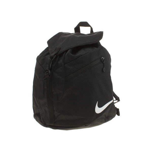 Nike Black Azeda Backpack Bags ($38) ❤ liked on Polyvore featuring bags, backpacks, black, lightweight daypack, nike bag, mesh zipper bag, black rucksack and mesh bag