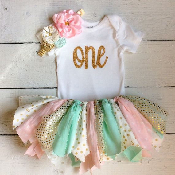 Pink and mint tutuCake smash outfitpink mint and by LittleBbows