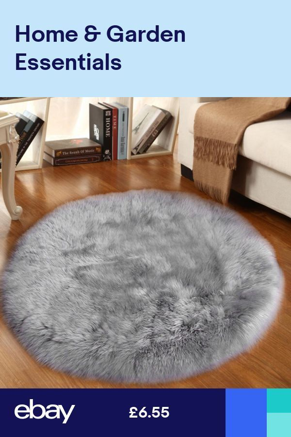 Faux Sheepskin Rug Dia 40cm Fluffy Carpet Super Soft Seat Cushion Grey 40cm Carpet Cush Faux Sheepskin Rug Rugs On Carpet Sheepskin Rug