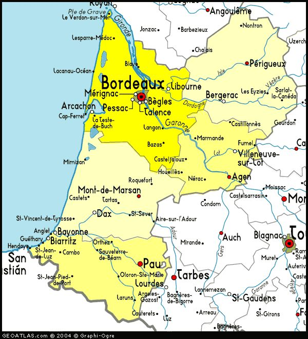 Map of Aquitaine France | Map of Aquitaine, France | Places to Visit ...