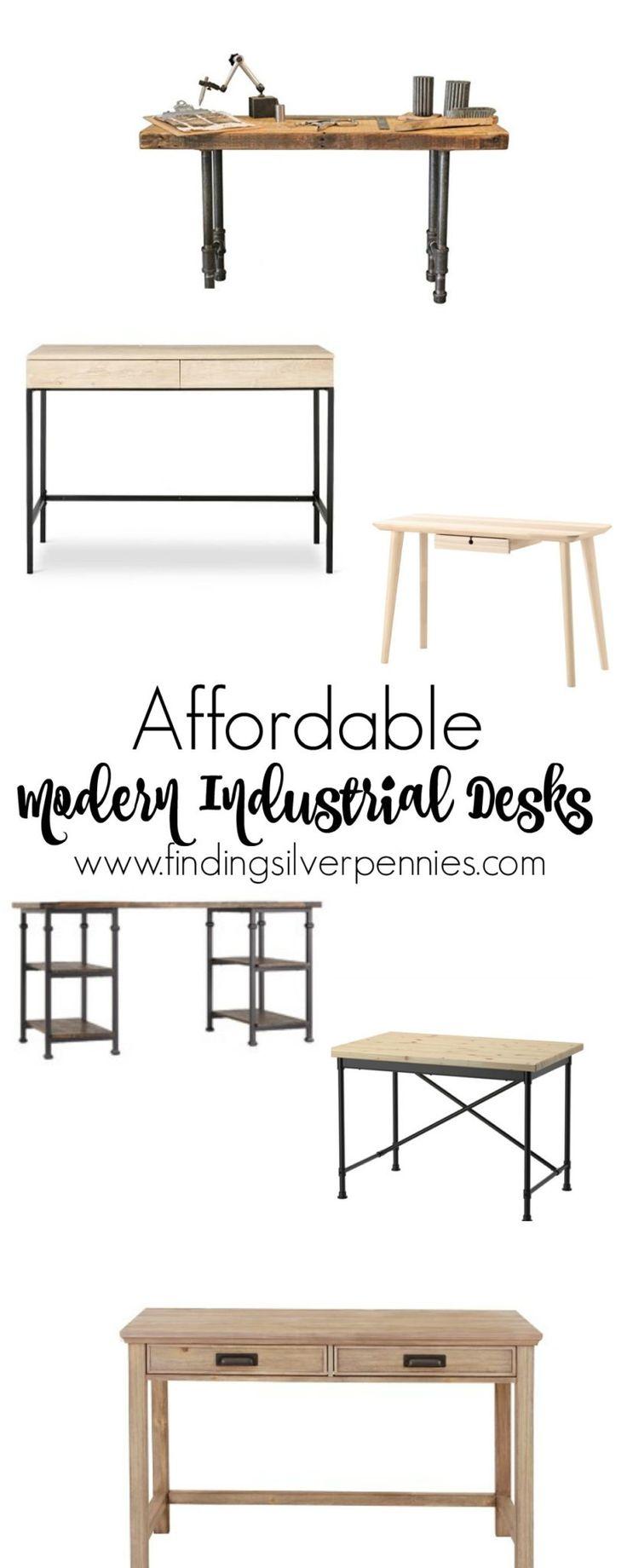 6 Affordable Modern Industrial Desks - Finding Silver Pennies