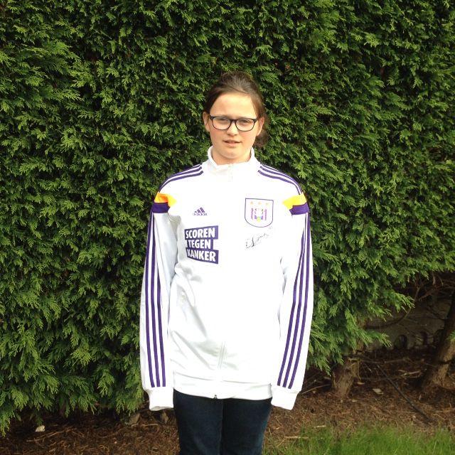 Vestje Dennis Praet voor #scorentegenkanker