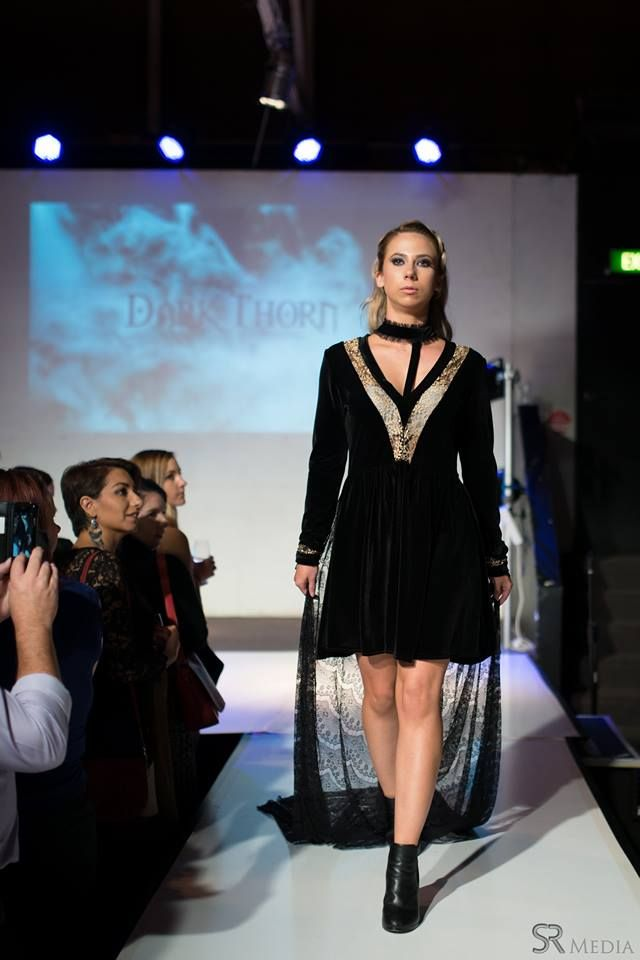Raw Adelaide Signature 1.04.2016  Aliese on the runway in the Victoria dress  Photography: SR Media Hair: Caitlan Prater Makeup: Tiarna Lehmann  VICTORIA: http://www.darkthornclothing.com/collections/rebirth/products/victoria-dress