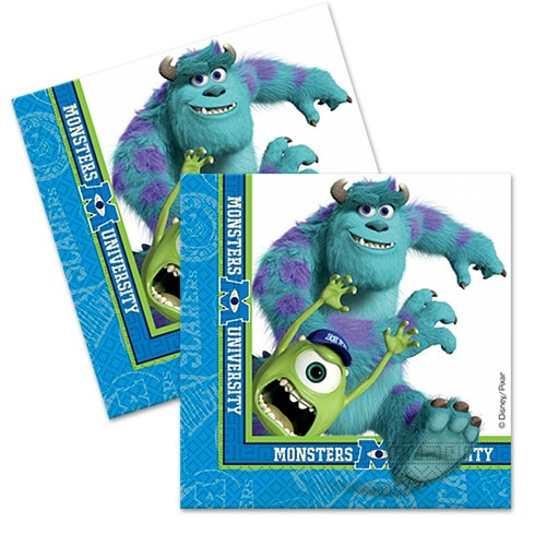 'Monsters University Party Napkins'