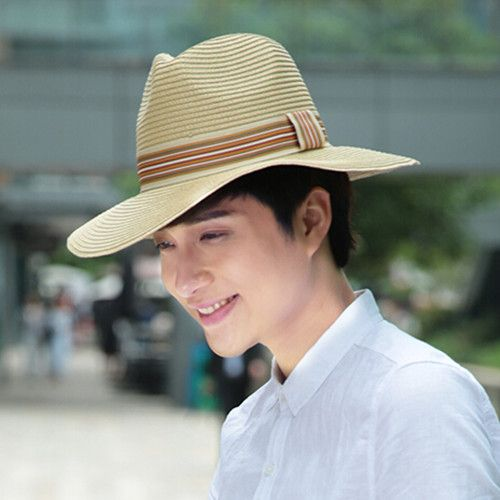 Fashion straw fedora hats for men summer panama hat …