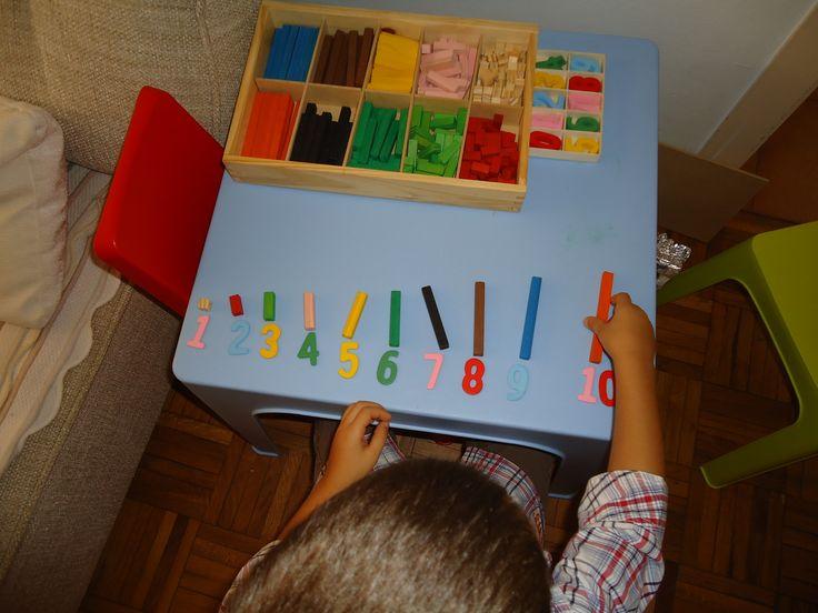 Regletas Cuisenaire: relacionando valores con números