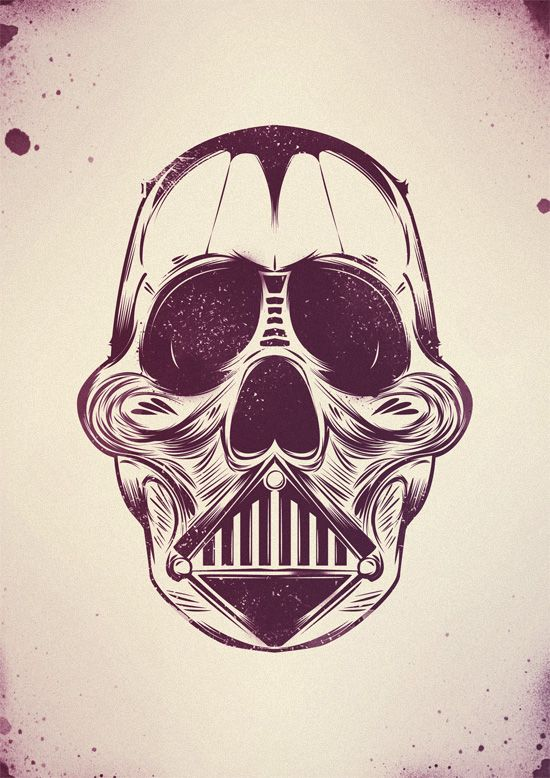 DARTH SKULL: Design Illustrations, Illustrations Inspiration, Creative Design, Artworks Creative, Inspiration Skull, Skull Crowns, Design Design, Darth Skull, Skull Artworks