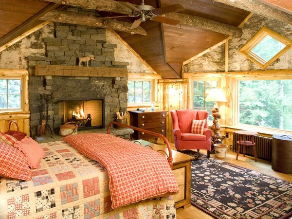 adirondack style bedroom decorating found on adkgreatcampscom - Cabin Bedroom Decorating Ideas