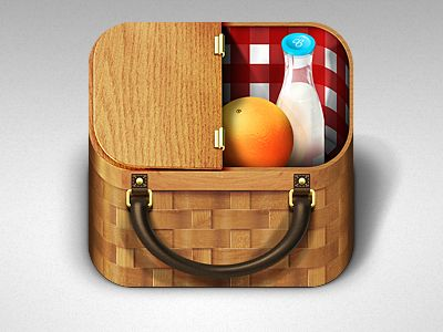 Picnic Basket #icon #dribbble http://drbl.in/eeYS