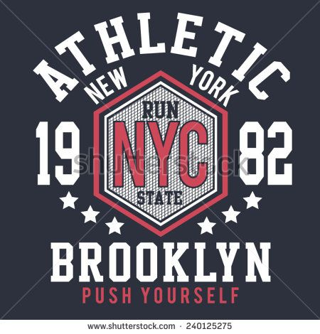 Sport college athletic typography, t-shirt graphics, vectors - stock vector