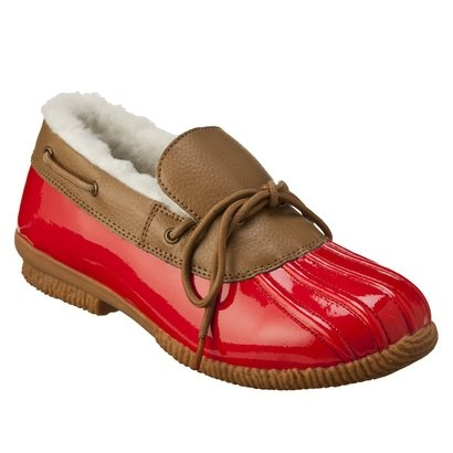 Unique Tory Burch - Fur Lined Duck Boot - Red/Navy At Footnotesonline Womenu0026#39;s Designer Shoes