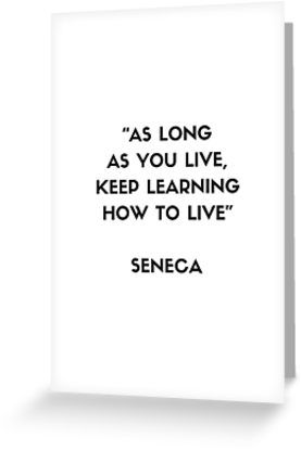 Stoic Philosophy Quote – Seneca | Greeting Card