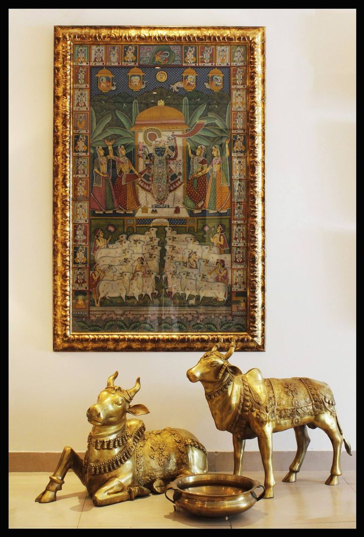 I am not a brass lover but I just love the Nathwara school and srinathji paintings..