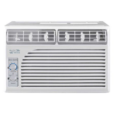Arctic Wind AW5005M 5,000 BTU Window Air Conditioner with Mechanical Controls, White
