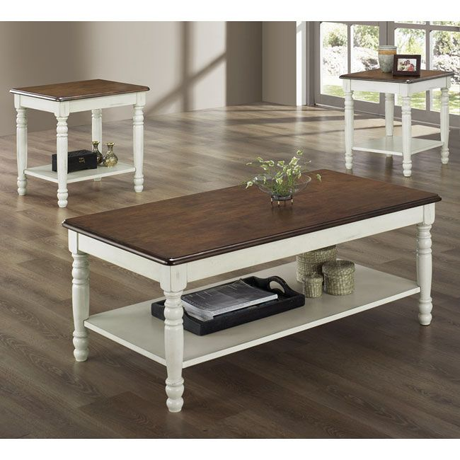 Ohana 3-Piece Occasional Table Set (White) & 112 best Accent and Occasional Furniture images on Pinterest ...