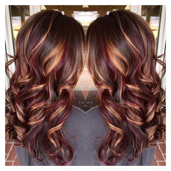 Best 25+ Burgundy hair with highlights ideas on Pinterest ...