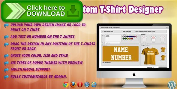 [ThemeForest]Free nulled download WP eCommerce Custom T-Shirt Design Studio from http://zippyfile.download/f.php?id=58847 Tags: ecommerce, custom product builder, custom t shirt design maker, custom t shirt maker, custom t-shirt, custom t-shirt design, image, logo, make my own t shirt, Product image, shirt, tshirt, tshirt printing, wp ecommerce product builder, wp ecommerce product design