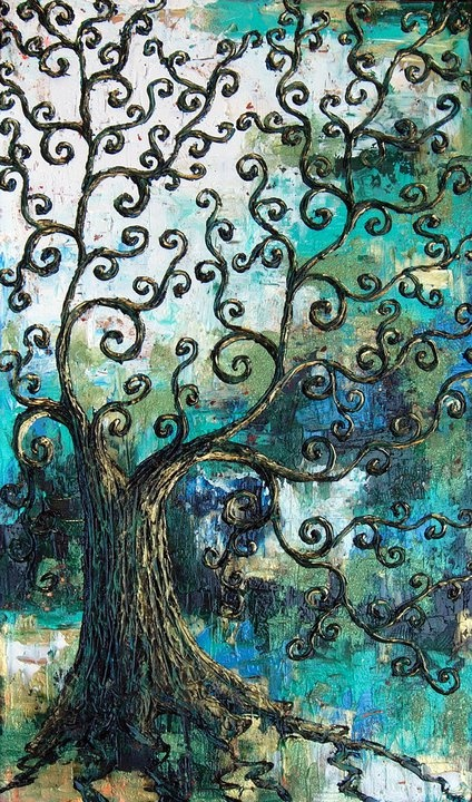 Swirly Tree by Annie Walker: Trees Art, Swirls Trees, Trees Of Life, Artists Inspiration, Artsy Fartsi, Annie Walker, Artsy Side, Stained Glass, Swir Trees
