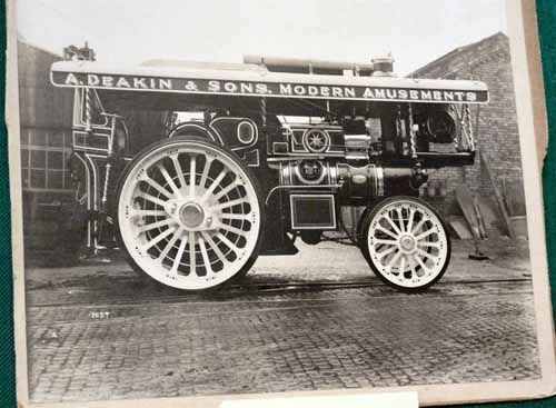 Auction Lot 710  (Fowler Showmans Engine 'supreme'  original factory photo  8x..) Image 1