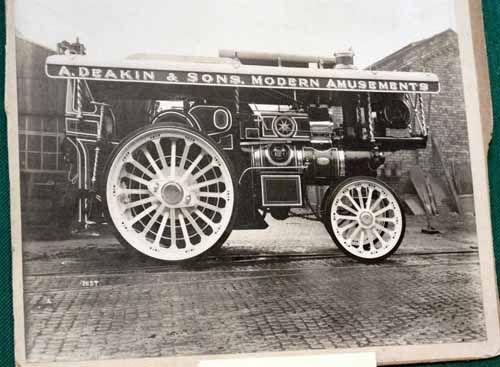 Auction Lot 710  (Fowler Showmans Engine 'supreme'  original factory photo  8x..) Image 1