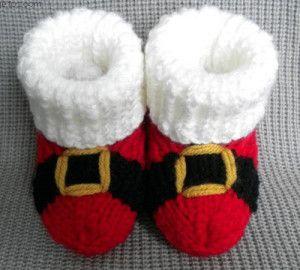 Santa baby Booties Pattern