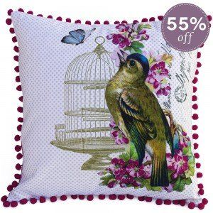 Singing Bird Tropicali Cushion