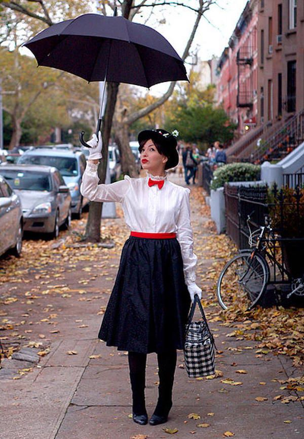 Mary Poppins Kostüm selber machen | Kostüm Idee zu Karneval, Halloween & Fasching