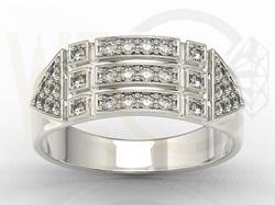 Pierścionek z białego złota z cyrkoniami / Ring made from white gold with zircons / 1 840 PLN / #ring #gold #white_gold #jewellery #zircons #giftidea