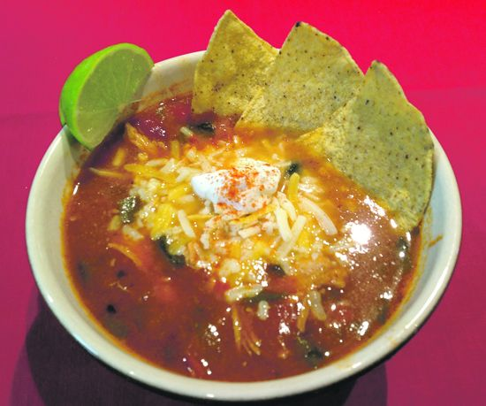 Yard House recipe for tortilla soup, Mimi style. I added a little more flour to thicken the soup - fabulous!