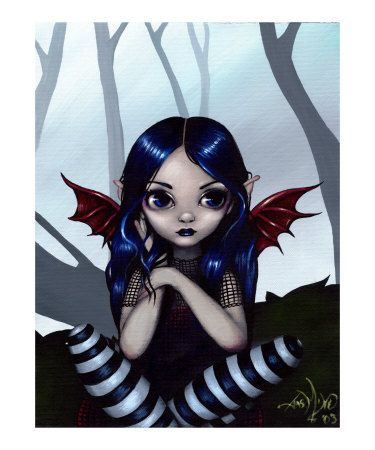 Gothic Fairy :  Lost but Not Worried by Jasmine Becket-Griffith