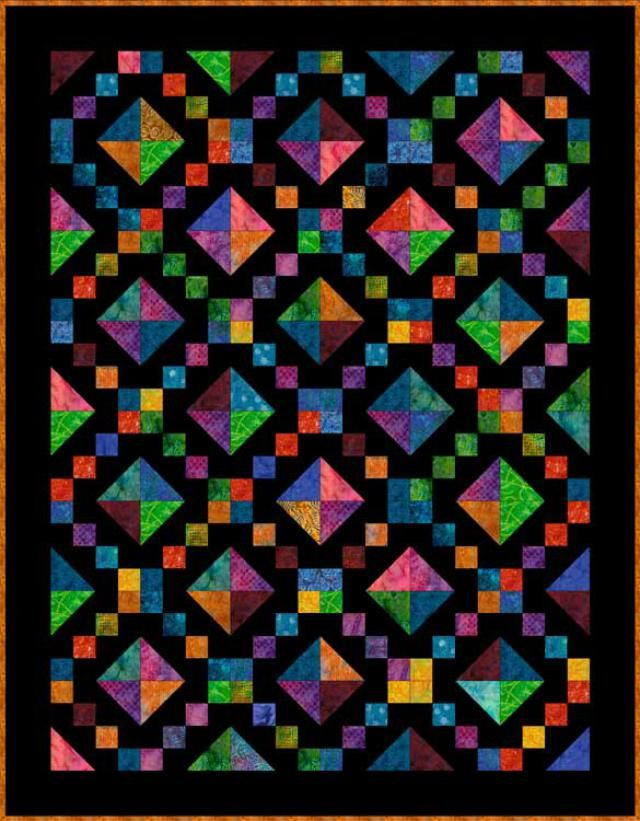 Sew Brightly Colored Fabrics on Black to Make a Lush Jewel Box Quilt: How to Make a Jewel Box Quilt
