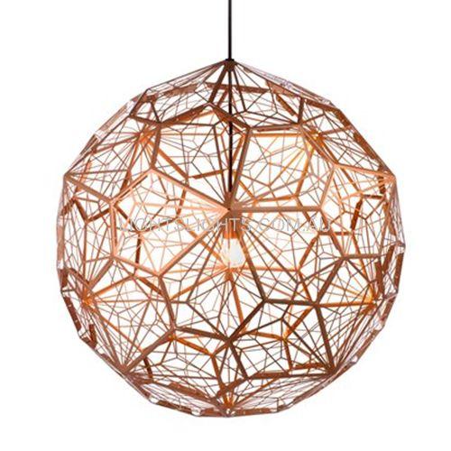 Replica Tom Dixon Etch Light Web Copper Pendant Light