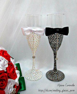 Свадебные бокалы, аксессуары,торт из подгузников