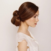 Knotted Chignon Wedding Hair hairstyle girl hairstyle Hair Style| http://hairstylehosea.blogspot.com